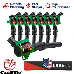 Green High Performance Ignition Coil Pack For Ford Lincoln 4.6L 5.4L FD503 DG508