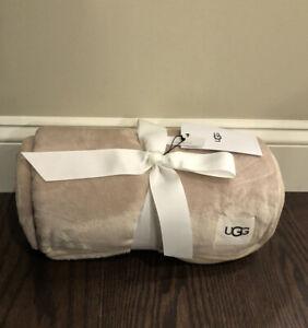 NWT UGG Duffield Throw Blanket OTHT Oatmeal Beige