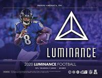 2020 Panini Luminance Football 2 Hobby Boxes Random Team Breaks Saturday