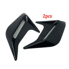 2PCS Carbon Fiber Style Car Hood Air Flow Fender Side Vent Decoration Sticker