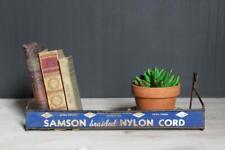 Vintage Hardware Store Rack, Blue Metal Store Display, Samson Nylon Cord Rack