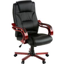 Poltrona sedia ufficio con rivestimento di finta pelle Nuovo