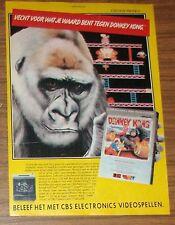 Seltene Werbung CBS Electronics DONKEY KONG ColecoVision Niederlande 1983