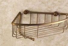 Antique Brass Bathroom Corner Shower Wasl Basket Shelves Caddy Storage