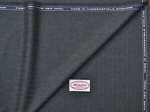 100% WOOL WORSTED, CHARCOAL HB, VINTAGE FLANNEL STYLE - MADE IN ENGLAND 3.5M