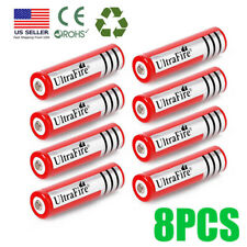 8* UltraFire 18650 Battery 3.7V Li-ion Rechargeable Batteries For LED Torch USA