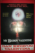 My Bloody Valentine 1981 Paul Kelman G. Mihalka Horror Unique Exyu Movie Poster