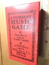 Vintage1936 Dewhirst Music Game Flash Cards Willis Co. Complete Set Excellent