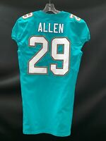 #29 NATE ALLEN MIAMI DOLPHINS GAME USED AUTHENTIC NIKE JERSEY SZ-40 YR- 2017