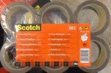 Scotch Packaging Tape - Brown, 6 Rolls New