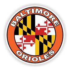 Baltimore Orioles Decal / Sticker Die cut
