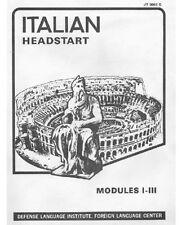DLI ITALIAN HEADSTART MOD.1-5 DISK-MP3+PDF BOOKS+BONUS
