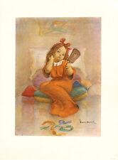 WALTER HOESCH Vintage Mid Century 1947 Childrens Print WORNOUT Bambini Series