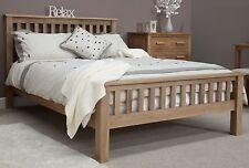 Windsor solid oak bedroom furniture 4'6 double rail end bed