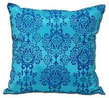 2 x HOUSSE COUSSIN BAROQUE Turquoise 50x50 cm TRES DECO