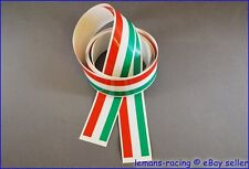 Italian Flag Stripes Stickers Decals Tape 1400x27mm 28 pcs! LAMBRETTA DUCATI