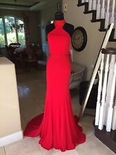 $440  RED JVN BY JOVANI PROM/PAGEANT/FORMAL DRESS/GOWN #33144 SIZE 8