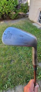 GEORGE NICOLL MAC SMITH ANTIQUE VINTAGE HICKORY WOOD SHAFTED GOLF IRON PLAYER!