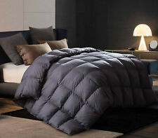 "Twin68x90"" Goose Down Comforter Grey 50oz/350gsm 1000Tc Thick Warm for Winter"