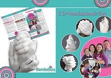 Bambehina Handabdruck, Erinnerung in 3D, Hochzeit, Paar, Valentinstag, Eltern