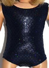 "SPARKLE NAVY LEOTARD Dance/Gymnastics Doll Clothes Fits 18"" American Girl Dolls"
