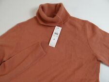Ann Taylor Women's Dusty Rose Pink Cashmere Turtleneck Sweater Small S NWT NEW