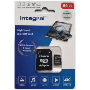 64GB Micro SD Carte Mémoire Class10 U3 pour Huawei Honor 7I, 7x, 7S,8 G7+ ,G9