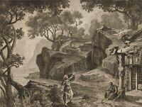 FISCHER; HOFFMANN, Opernszene aus Wagners 'Götterdämmerung, 1878, Rad