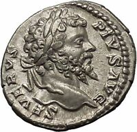 SEPTIMIUS SEVERUS Veiled with branch 202AD Silver Ancient Roman Coin  i52293