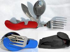 Set de couverts camping pliable pique-nique couteau de poche fourchette Cuillère