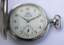 VIALUX  SUPER FULL HUNTER CASE  POCKET WATCH SWISS MADE 1960's TURKIS RAILWAYS