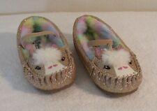 NEW Self Esteem Toddler Girls Glitter Moccasins Shoes 8 Gold MSRP$25