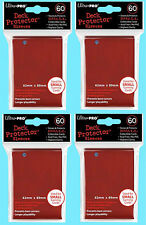 240 Ultra Pro RED DECK PROTECTOR Small Card Sleeves NEW Yugioh Gaming 4 Packs