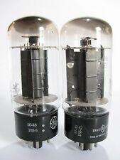 PAIR GE/Hp 6L6GB (5881,6L6G,6L6GA) tubes - Hickok TV-7B tested @ 35, 37, min:25