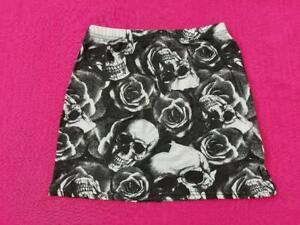 Women / Girls A-Line Shaped Ladies Elastic Waist Skirts Black/White + Sizes