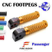 For Suzuki GSF 650 //S Bandit 07-16 08 09 10 11 12 FR CNC 25mm BK Front Footpegs