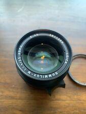 Leica SUMMILUX-M Aspherical 35mm f/1.4 Aspherical Lens - Black Pre 6-bit C