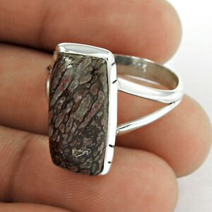 Halloween Gift Yuth Agate Gemstone Ring Size 10.5 925 Silver Jewelry T53
