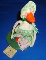 """Vintage Annalee® Dolls 10"""" 1986 Easter Goose Flower Bonnet"""