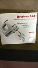 KitchenAid KHM7210 7 Speed Hand Mixer in White