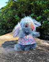 "MIniature Rabbit, ""Maisie"" Art Doll - Art Teddy, One of A Kind, Hand Made"