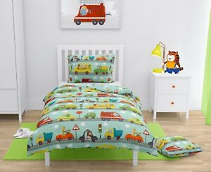 Cars Animals Kids Boys Bedding Set for Cot/Cot bed Baby & Toddler 100% COTTON