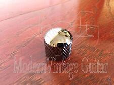 1  MVG SIDKBN Vintage Guitar Machined Metal Black Nickel  Dome Top Knurled Knobs