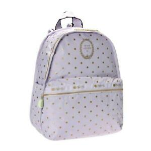 LeSportsac Laduree Collection Basic Backpack in Pois Cassis Violette NWT