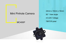 4-24v 90deg 520tvl audio color video 0.008low light covert pinhole hidden camera