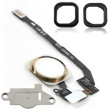 For iPhone 5S Home Button Flex Cable Replacement Kit With Bracket and Seal Gold