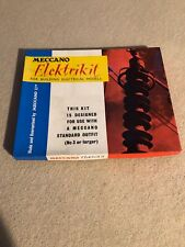 MECCANO ELEKTRIKIT SET IN ORIGINAL BOX WITH INSTRUCTION BOOK AND ALL PARTS