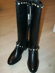 NEW Rocha John Rocha Customised Leather Boots Size UK 4 OR 6 - Black