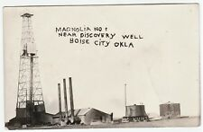 RARE RPPC Boise City OK Oklahoma Magnolia New Discovery Oil Well 1925 Real Photo