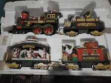 1995 New Bright Holiday Express Train - Lot of 4